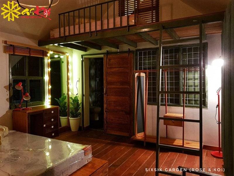 Phòng dorm với giường tầng dành cho nhóm bạn du lịch cùng nhau